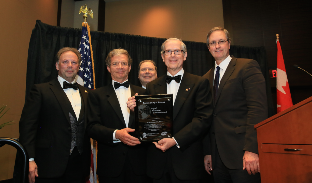 October 18, 2016, Washington, DC. Dr. Nilas Young receives the American College of Surgeons International Volunteerism Award for his outstanding accomplishments. Heart to Heart programs provide advanced cardiac education and training to help clinicians around the world provide care for their patients – from newborn babies to grandparents.