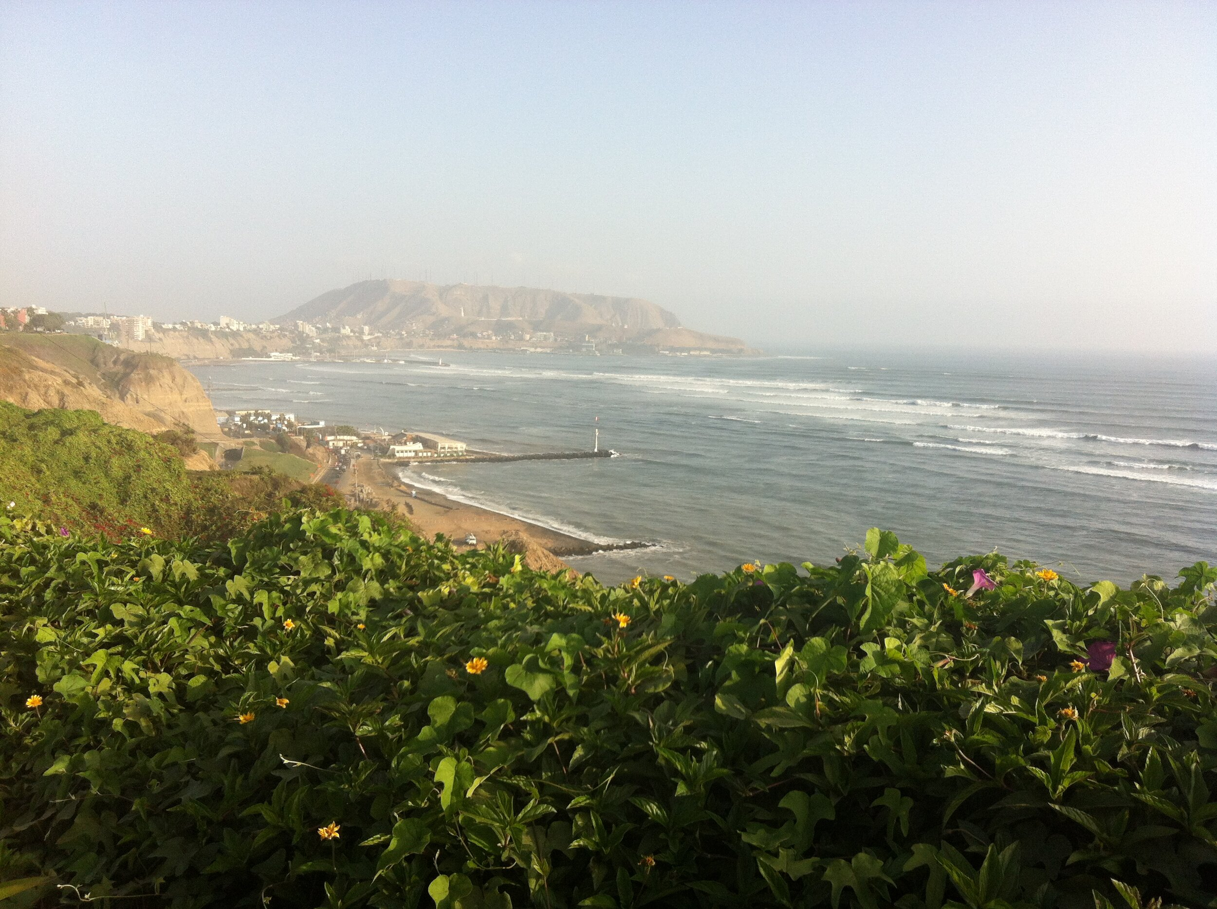 The Pacific Ocean meets the western border of Peru. The nation's capital Lima (pictured here) is by far the most populous city - home to more than 10 million.