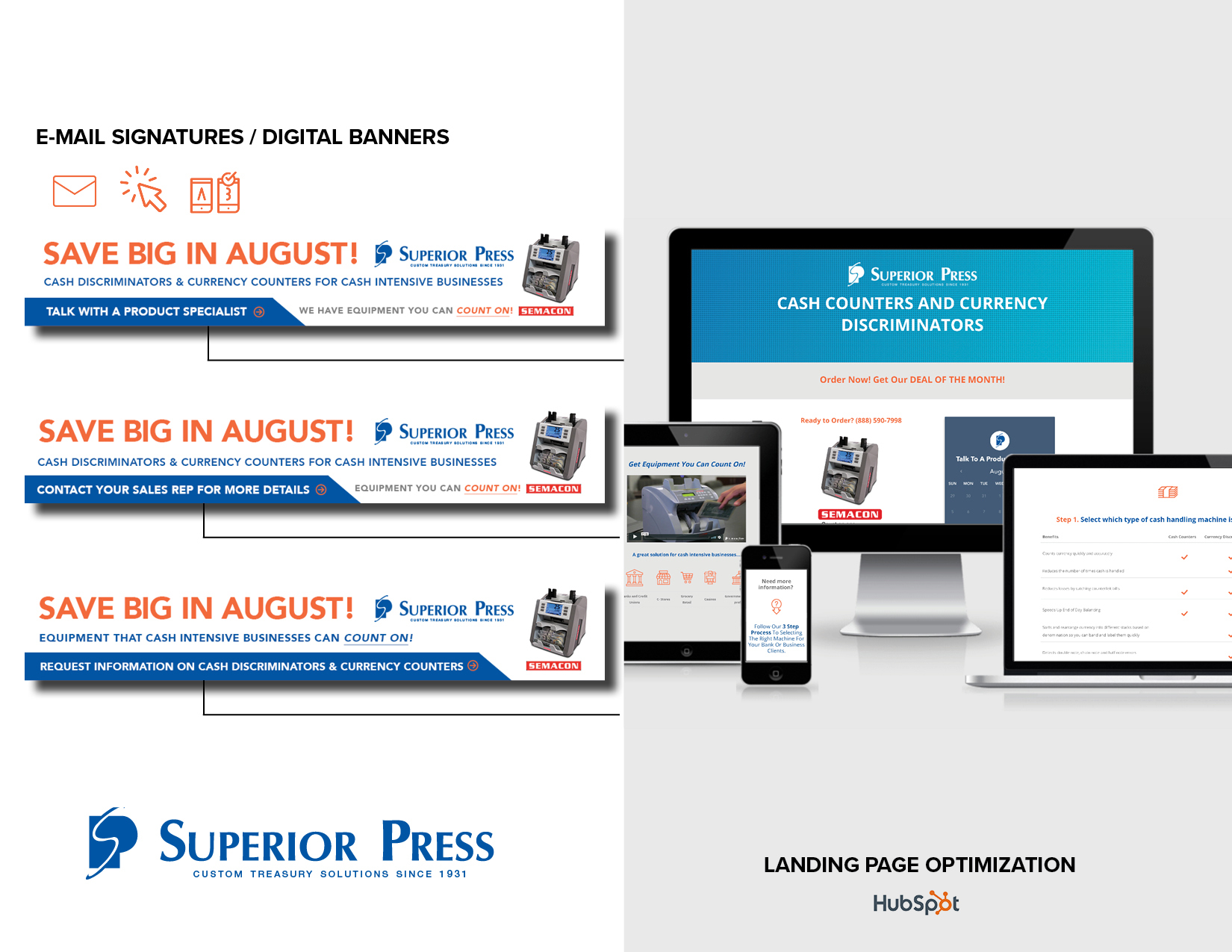 Landing Page & Digital Marketing Campaign - Hubspot Landing Pages PlatformCopywritingCSS/HTMLUX/UI OptimizationLeaderboard Ad Design