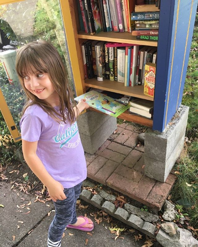 We had so much fun putting a couple copies of @FairyDogHeaven in our local free lending libraries. We checked back and we were excited to see the copies were gone! Love that someone wanted to bring our story home! @LittleFreeLibrary
