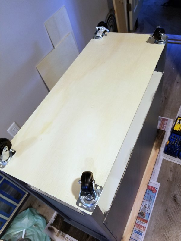 I'll need to touch up the stain on the underside of the boards, but I'll get to that another time.