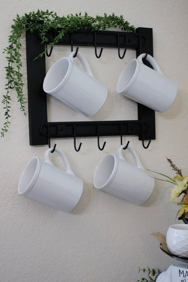 Diy Coffee Mug Rack Without Power Tools Simply Mindy