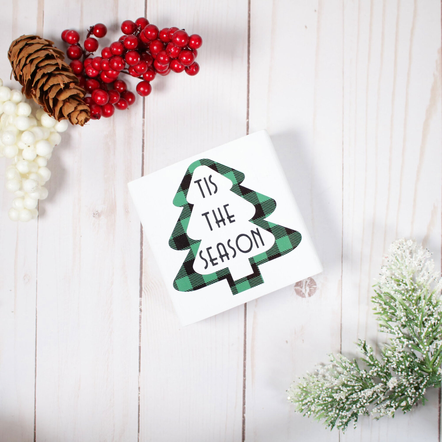 Christmas Wood Signs Tiered Tray Decor Simply Mindy