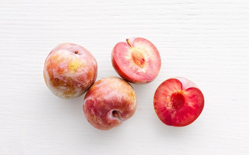 Blossom Bluff Orchards  Organic Small Mariposa Plum Trio  $2.99
