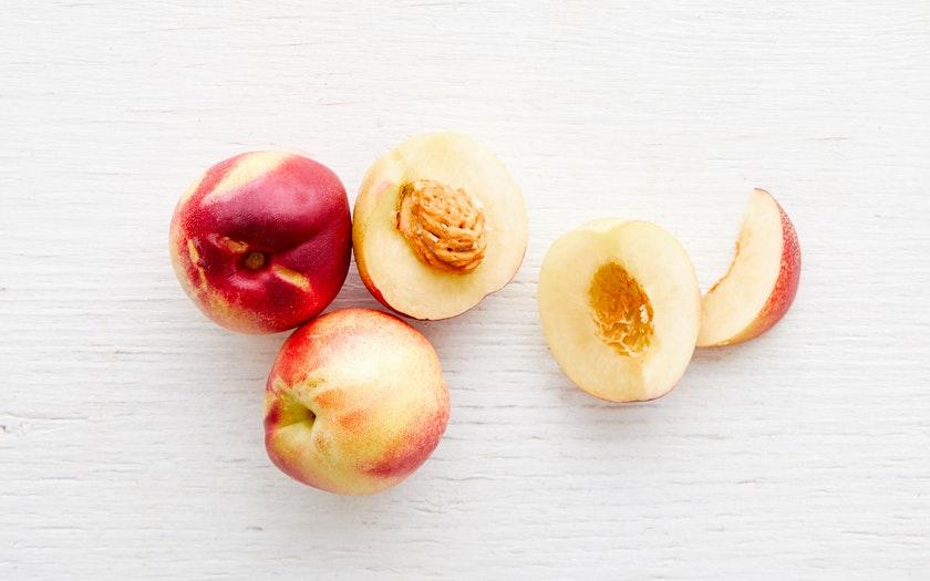 Blossom Bluff Orchards  Organic Viking Pearl White Nectarine Trio  $3.99