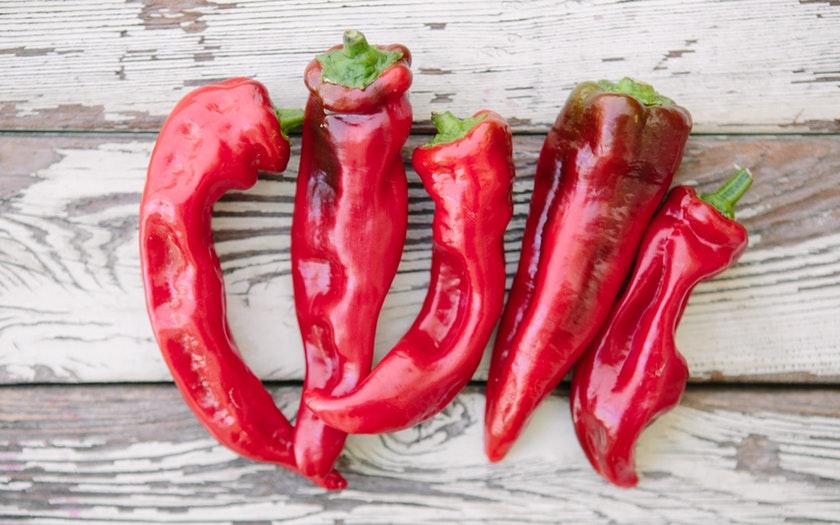 Gauchito Hill Farm  Organic Red Corno di Toro Peppers  $3.49