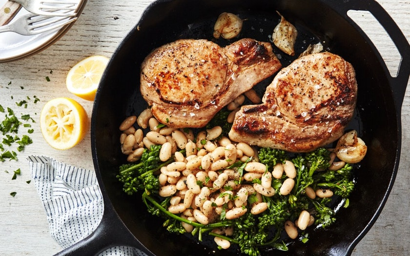 Good Eggs Meal Kits  One-Pan Seared Pork Chops & Baby Broccoli  $27.99