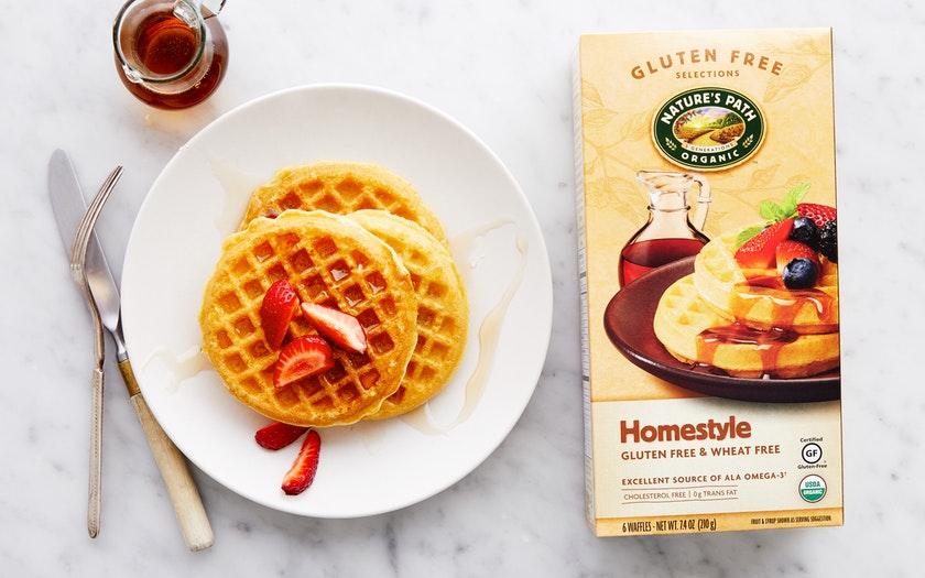 Nature's Path    Organic Gluten-Free Homestyle Waffles    $3.69