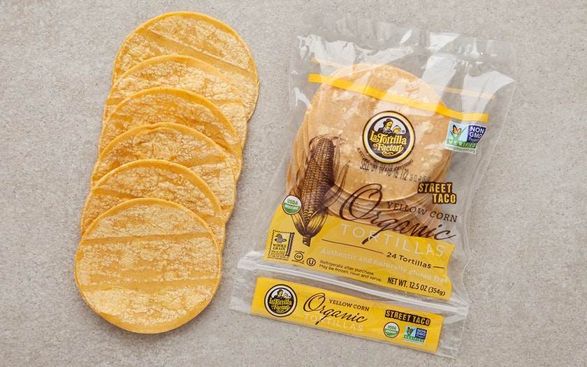 "La Tortilla Factory    Organic ""Street Taco"" Yellow Corn Tortillas    $2.79"