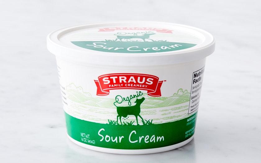 Straus Family Creamery   Organic Sour Cream     $4.29