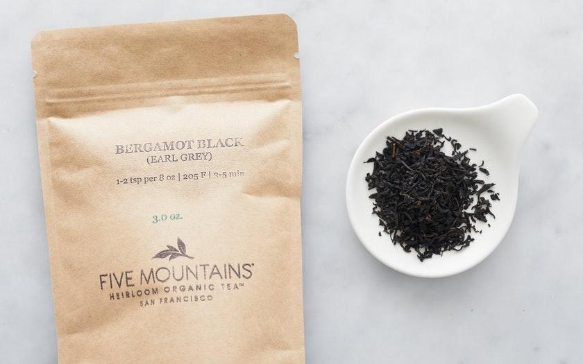 Five Mountains Heirloom Organic Tea   Organic Bergamot Black Loose Tea     $14.99