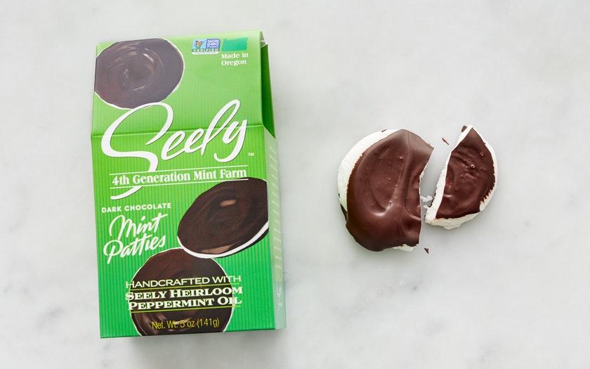 Seely Mint   Dark Chocolate Mint Patties     $7.99