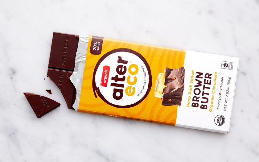 Alter Eco   Organic Dark Salted Brown Butter Chocolate Bar (70%)     $3.69