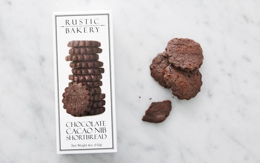 Rustic Bakery   Chocolate Cacao Nib Shortbread Cookies     $3.99