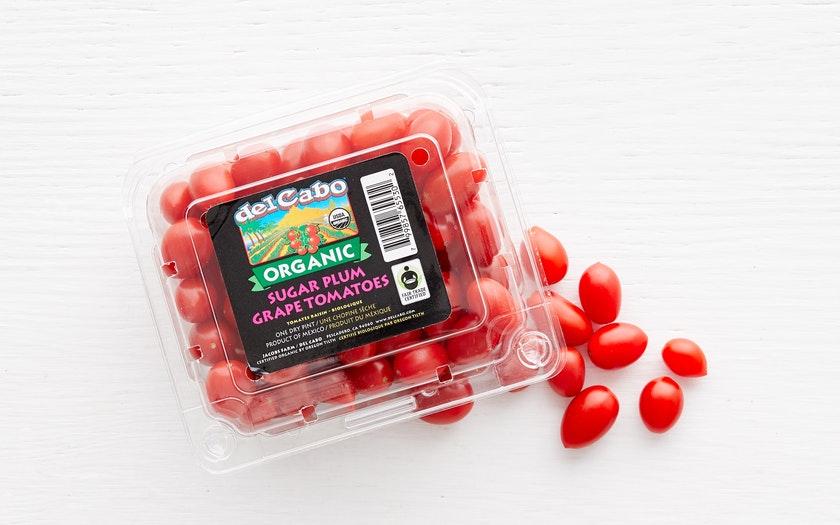 Del Cabo Cooperative   Organic & Fair Trade Sugar Plum Grape Tomatoes (Mexico)     $2.99