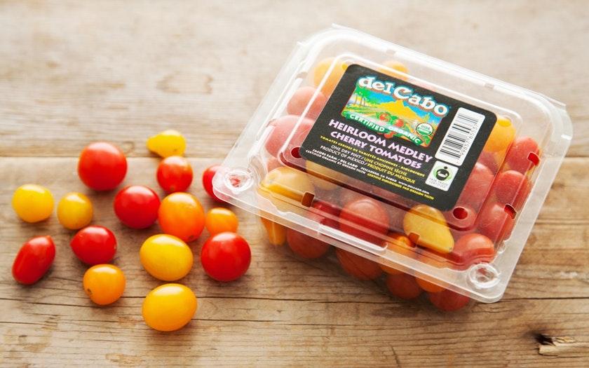 Del Cabo Cooperative   Organic & Fair Trade Heirloom Cherry Tomatoes (Mexico)     $4.99
