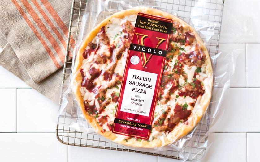 Vicolo   Italian Sausage Cornmeal Crust Pizza     $8.69