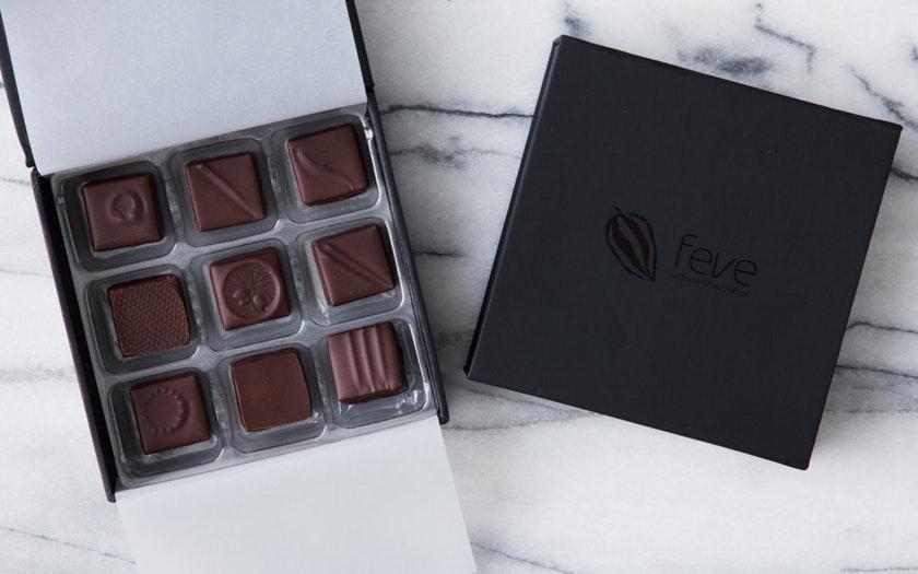 Feve Artisan Chocolatier   Single Origin Dark Chocolate Truffles     $19.99