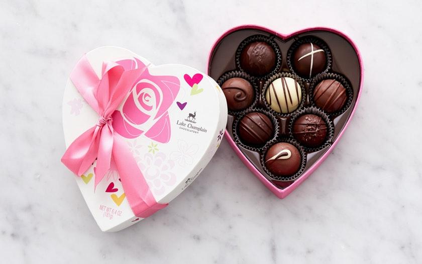 Lake Champlain Chocolates   Traditional Heart Truffle Box     $29.99