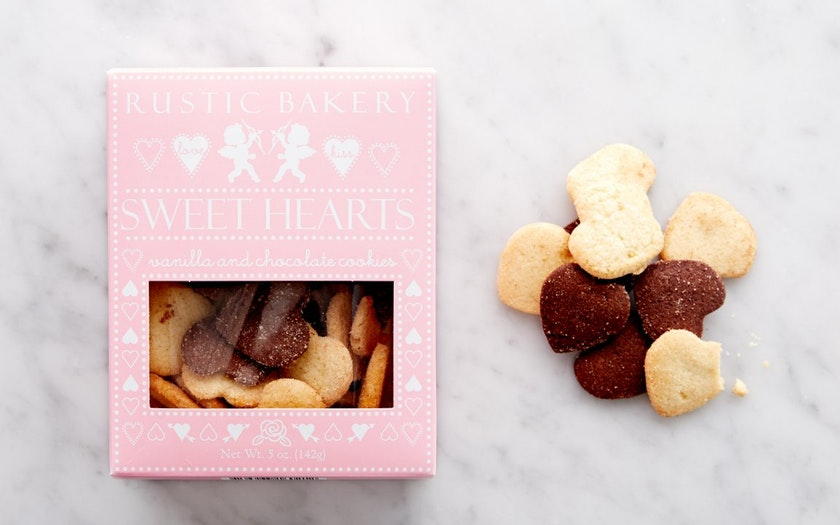 Rustic Bakery   Vanilla & Chocolate Valentine's Day Cookies     $5.99