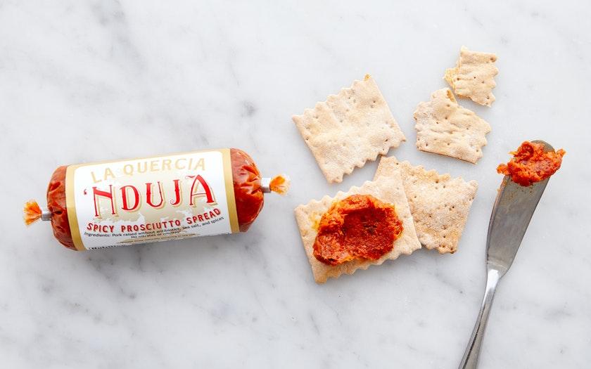 La Quercia   N'duja Spicy Prosciutto Spread     $5.99