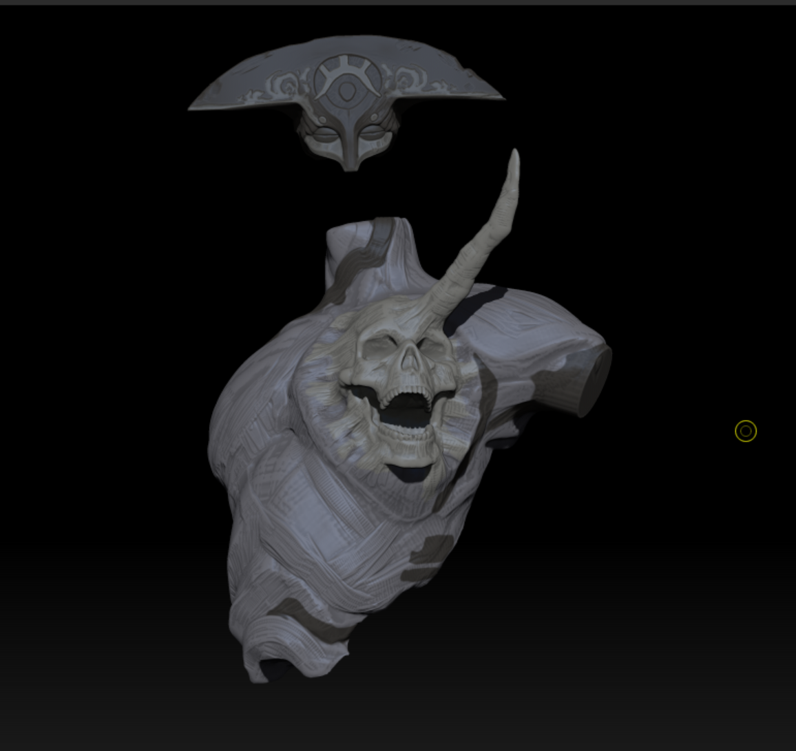 Rough sculpt of body