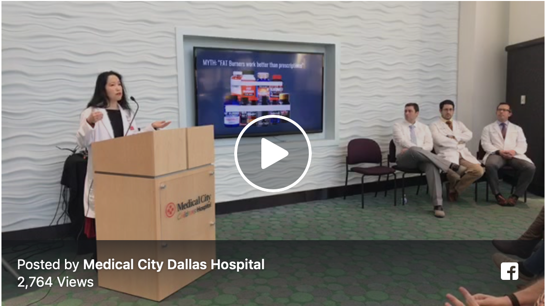 - Weight Loss Myths and ToolsDr. Valerie LiaoMedical Director, Non-surgical Weight Loss ProgramMedical City Dallas