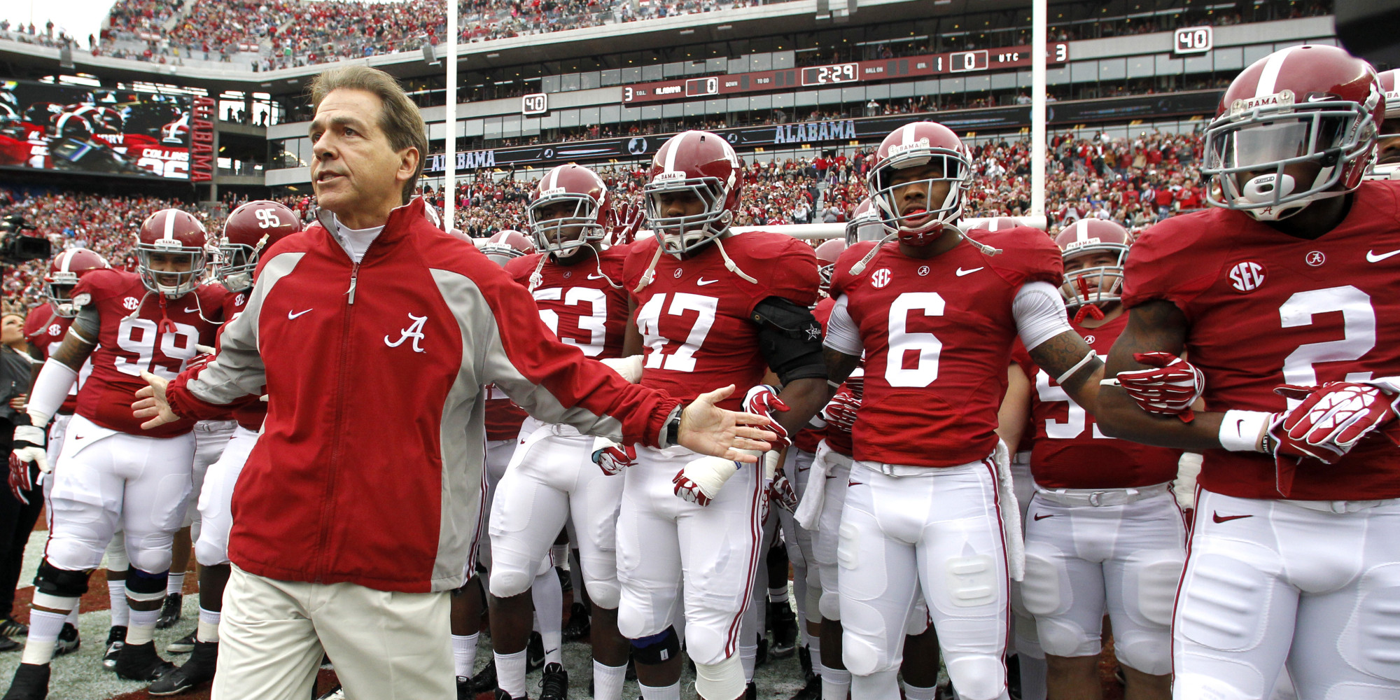 Nick Saban looking for his lucky number 7 this year.