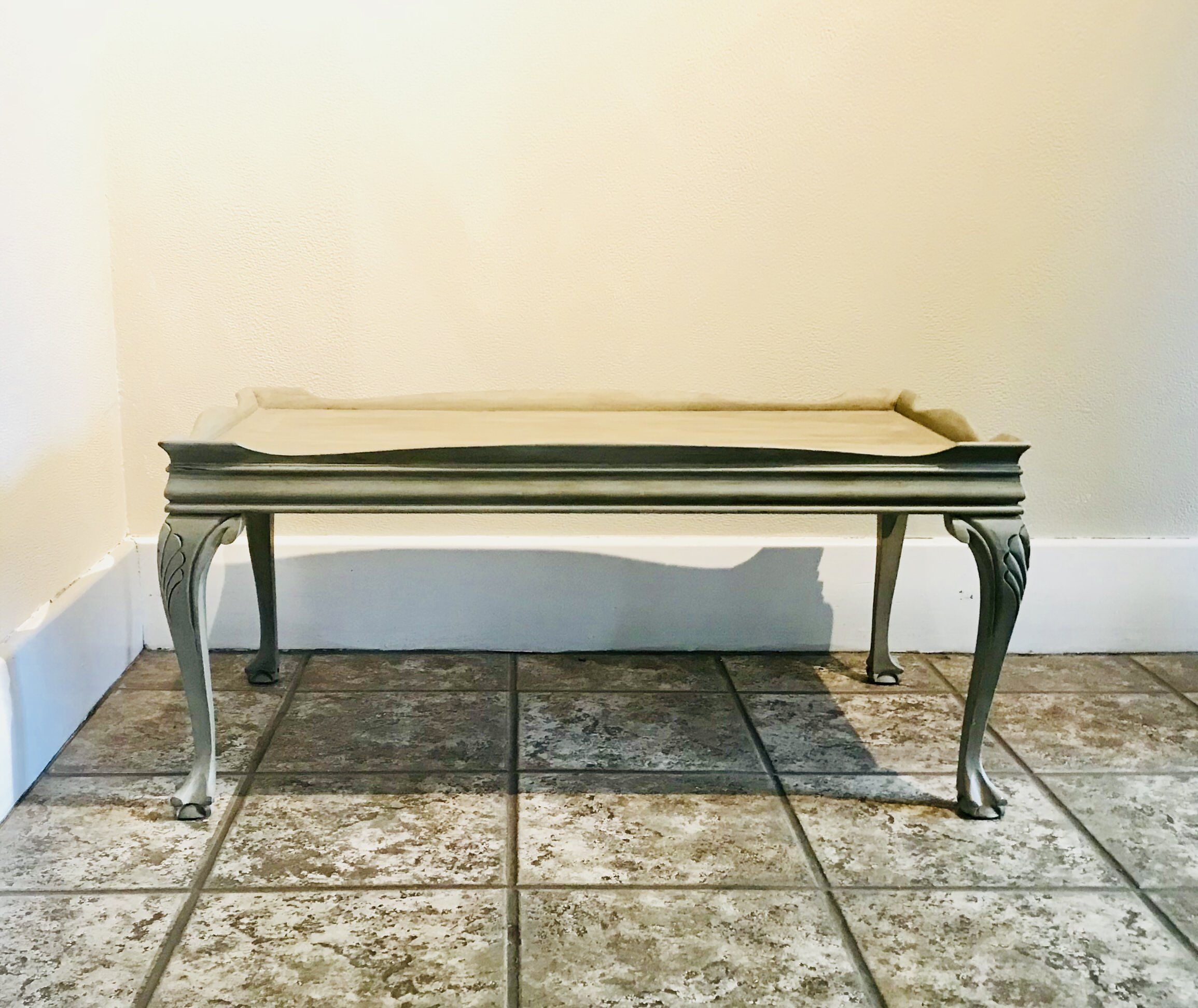 <p><strong>Gray Coffee Table</strong>$15</p>
