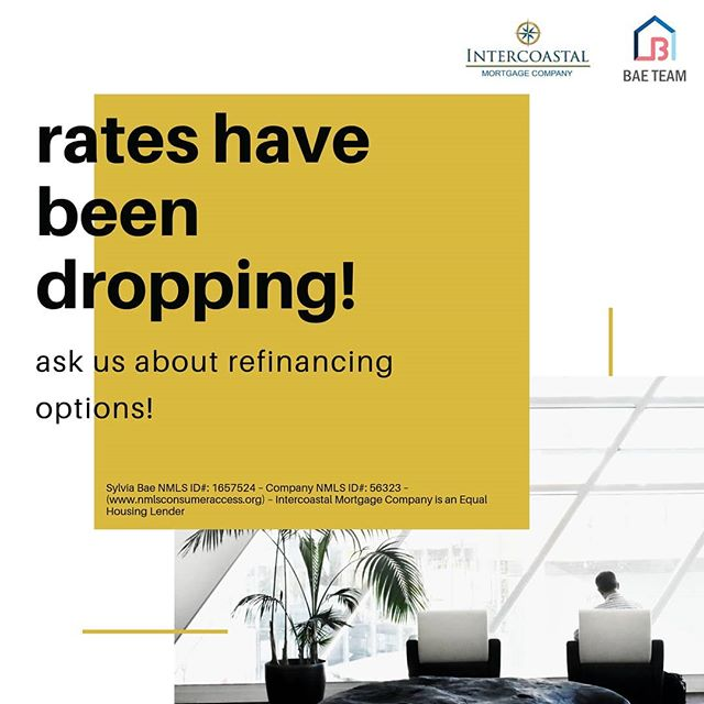 Did you know rates have been below 4% lately?? If you financed your mortgage last year when the rates were higher, I highly recommend looking into options to refinancing your mortgage! Contact me discuss your options!  Read more: https://www.marketwatch.com/amp/story/guid/AF3A08FC-9766-11E9-8832-0945FB0C110A  #mortgage #homemortgage #realestate #investment #homebuying #dc #va #md #dmv #dmvmortgage #dmvrealestate #dmvlending #dcmortgage #dclending #dcrealestate #mdrealestate #mdmortgage #mdlending #varealestate #vamortgage #valending #loanofficer
