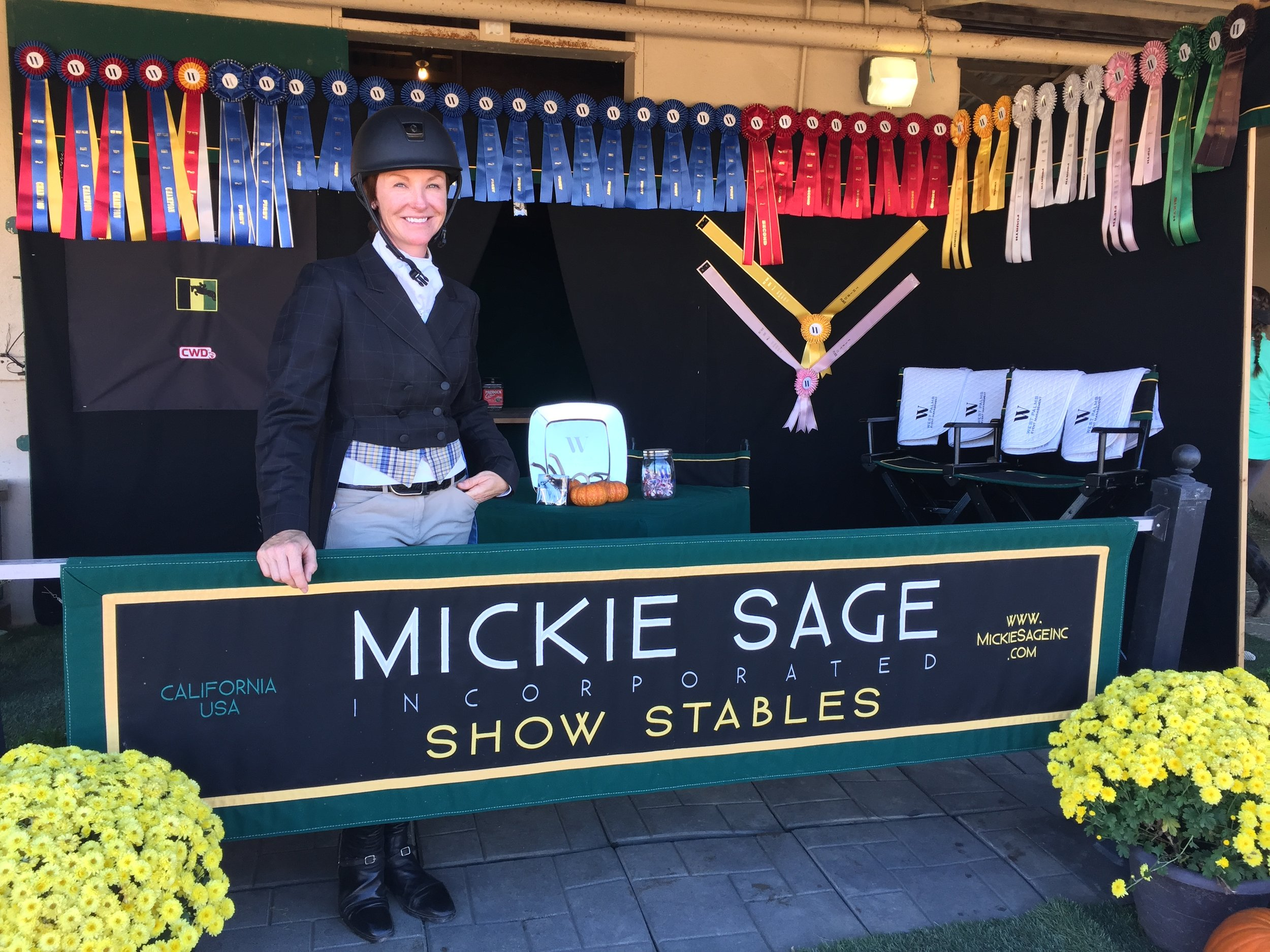 Mickie Sage - Rider and Head Trainer