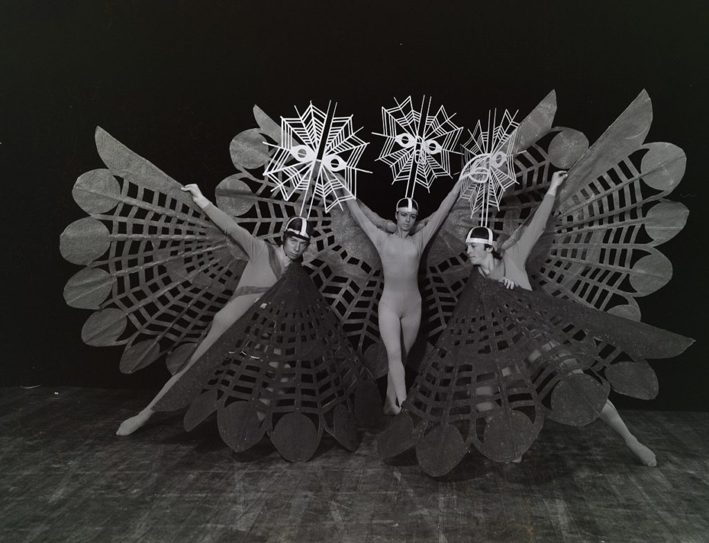 John Ashton, Paratene Matchitt's costumes for the 'Time of the Birds' sequence of  Green Are the Islands 1970