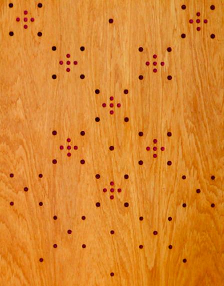 Maioha Kara, detail of  Purapura Whētu no. 2 , 2018.