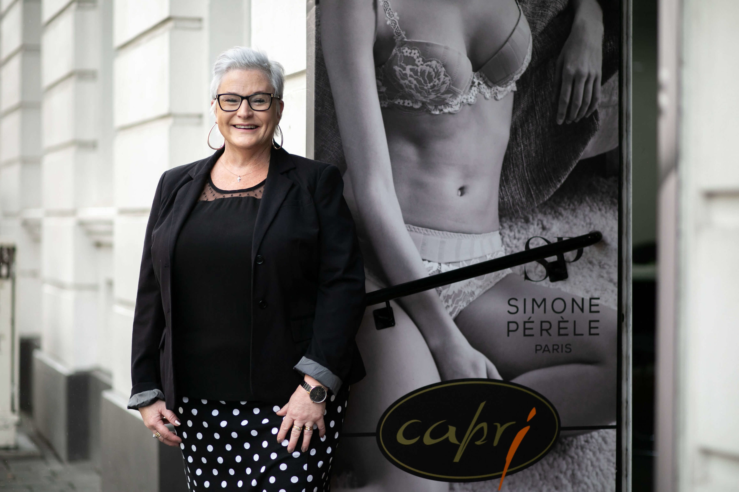 Michelle, owner of Capri is an expert in intimate wear. Image: Melanie de Ruyter for Winterlicious 2019.