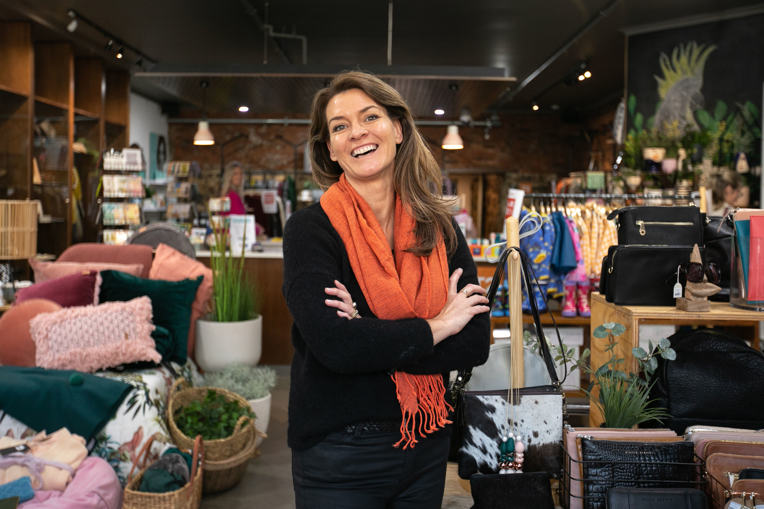 Amanda Gutwein, owner of Inside Home and Gifts stands in her shop. Image: Melanie de Ruyter for Winterlicous 2019.