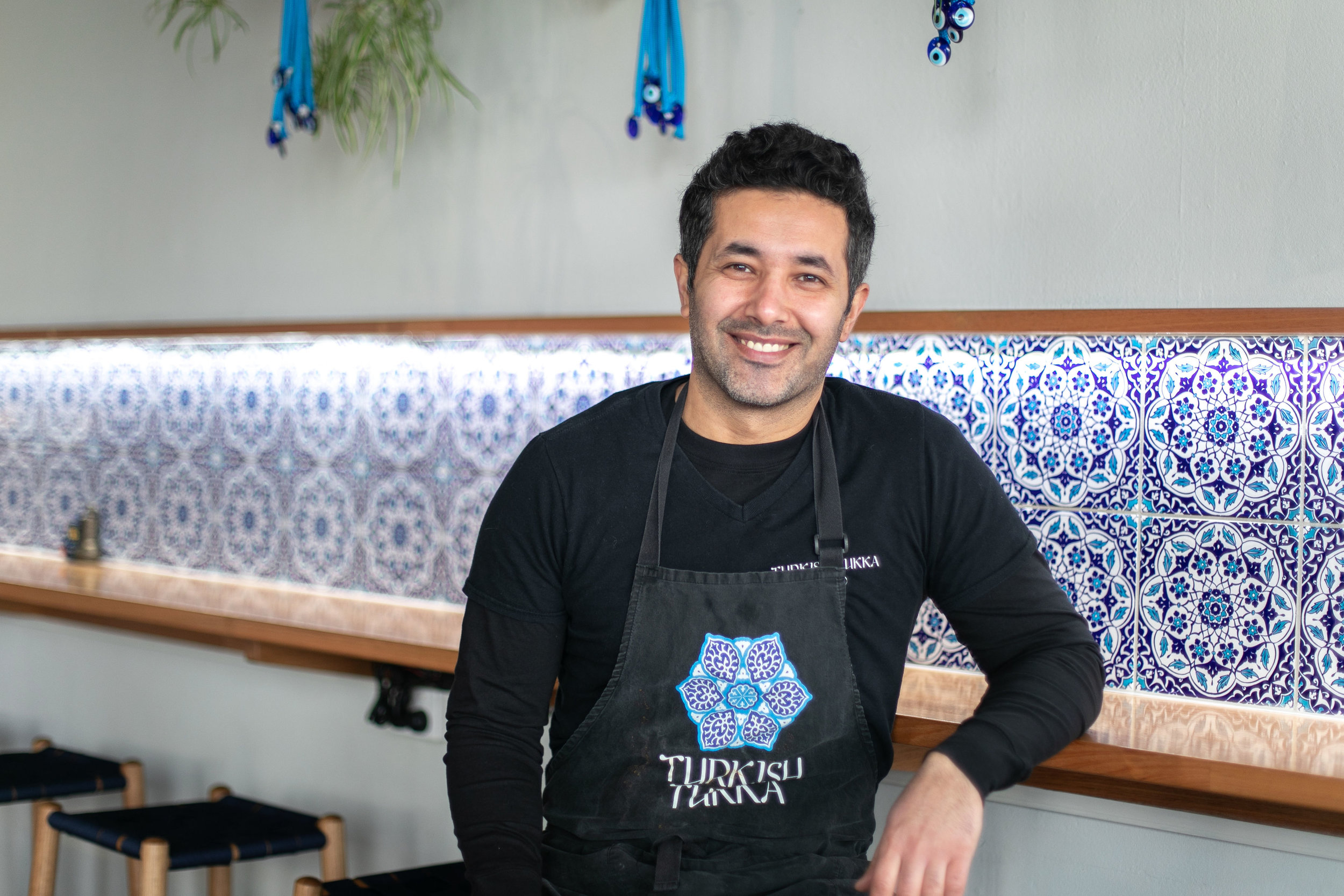 Yusuf Karazor, owner of Turkish Tukka, brings Anatolian flavours to George St. Image: Melanie de Ruyter for Winterlicous 2019.