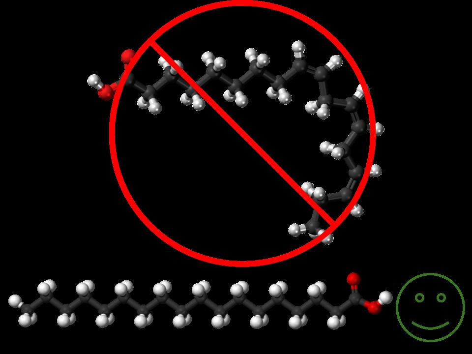 Lineolaic acid bad, Steric acid good