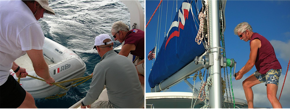 Strength is a critical skill when sailing.