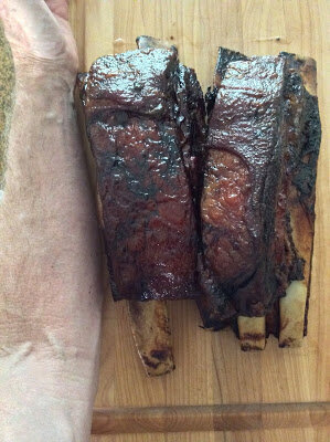 No, I didn't gnaw off someone's arm: beef short ribs fresh of the smoker. Health Food!
