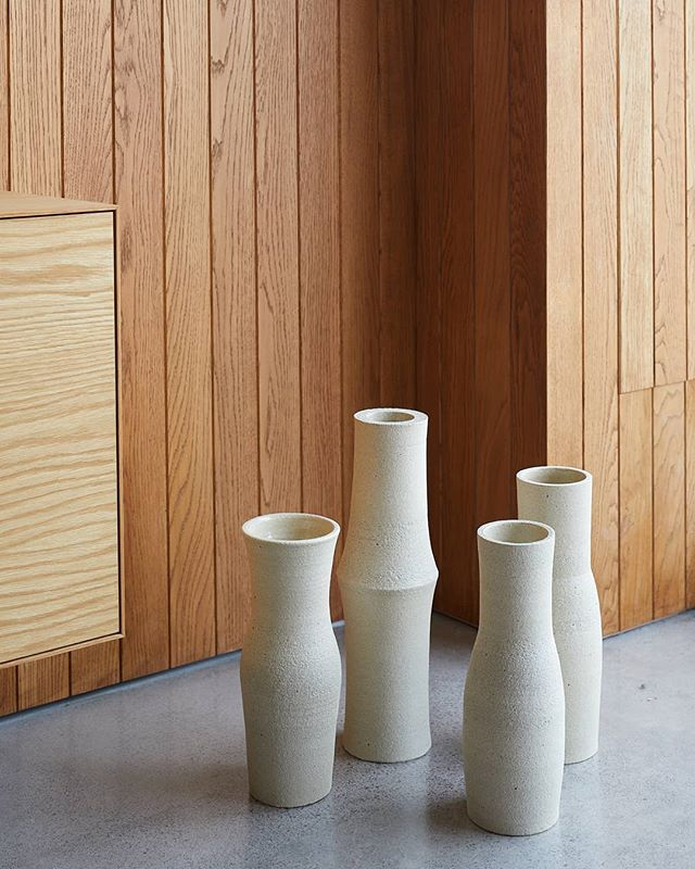 A collection of vases  @simonjamesstore photo @simon.c.wilson  #nzdesign #objectmaker #clay #simple #bold