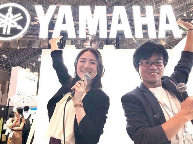 #interop tokyo 2019  #ヤマハ 展示ブースにて、田原彩香と花海志帆が司会を担当しました! ヤマハブースは、Interop Tokyo 2019 の「People's Choice 部⾨」にて3 年連続グランプリを受賞いたしました! https://network.yamaha.com/news/news_nw_20190620 #ビジネスタレント #幕張メッセ  #YAMAHA