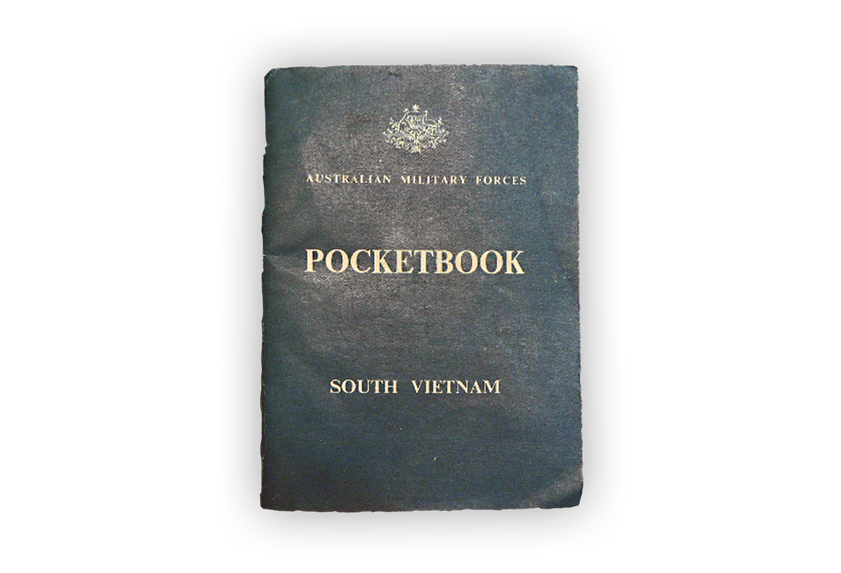 Image of standard issue pocketbook from Vietnam War.