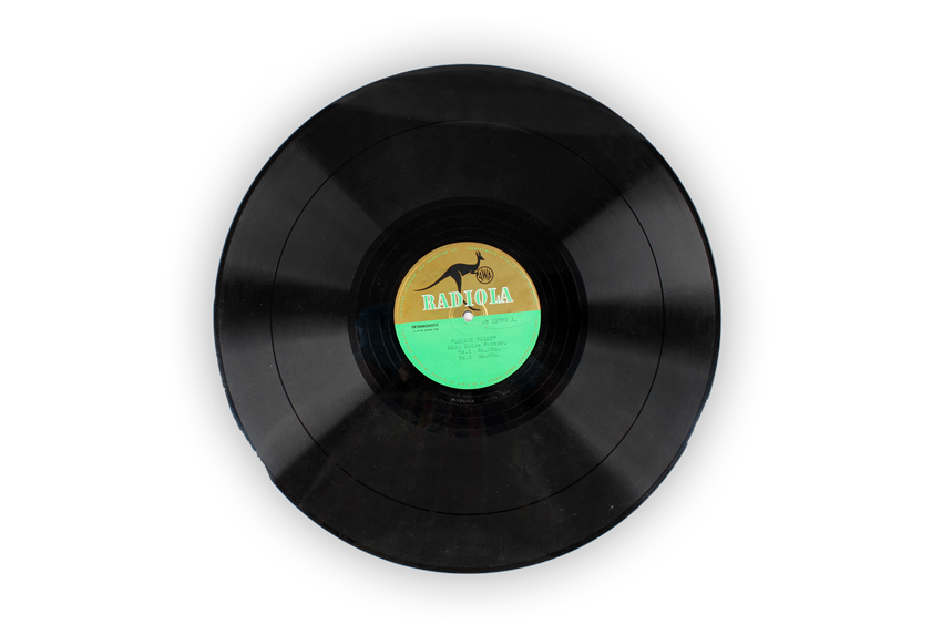 Image of vinyl from the collection of Melbourne Legacy.