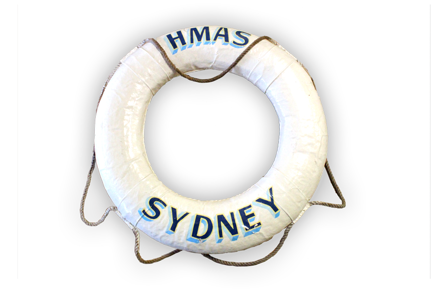 Image of a lifebuoy from the HMAS Sydney.