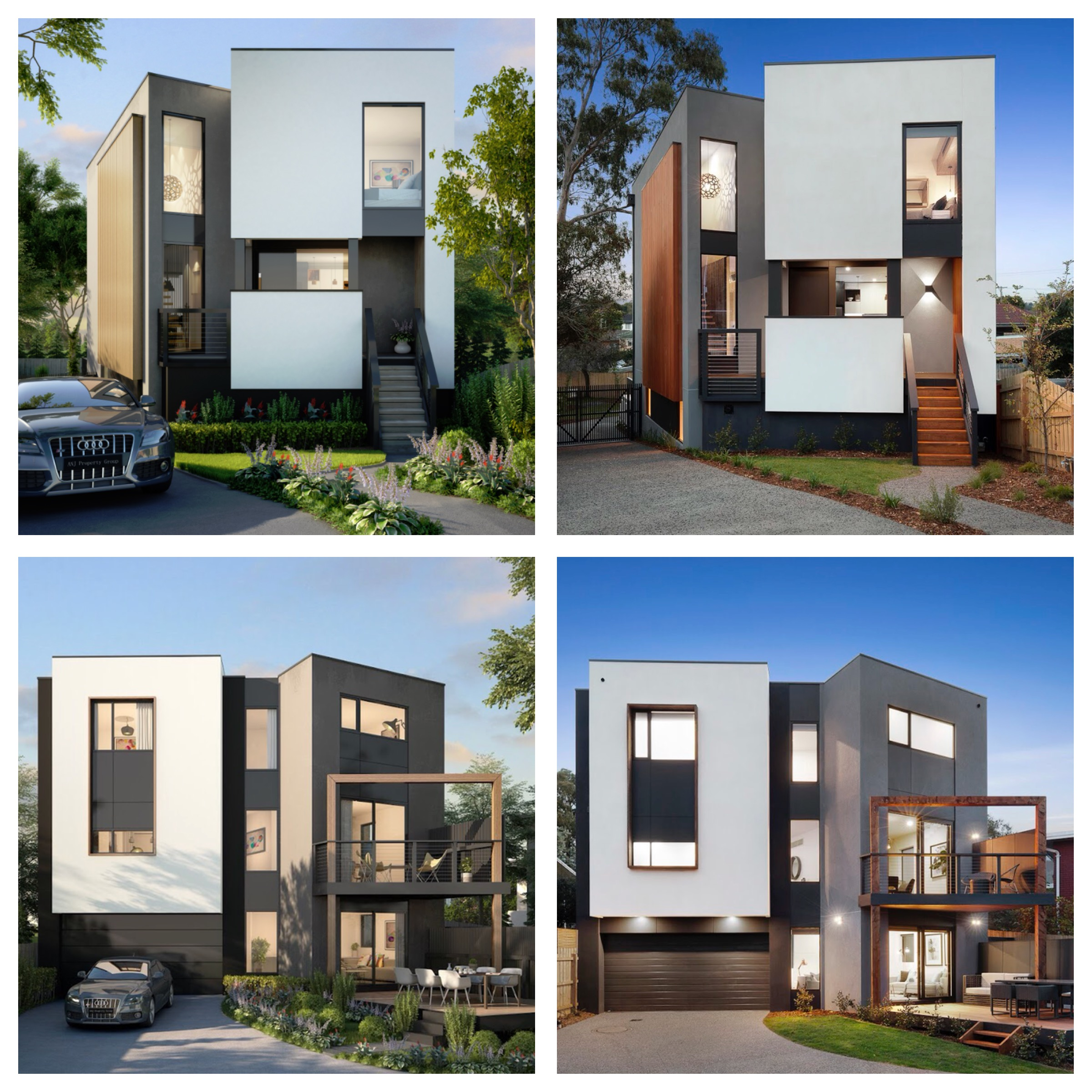 Almost Identical Design 3D Image & Build Completion Image of our Nunawading Residence. Design + Build by CNC.