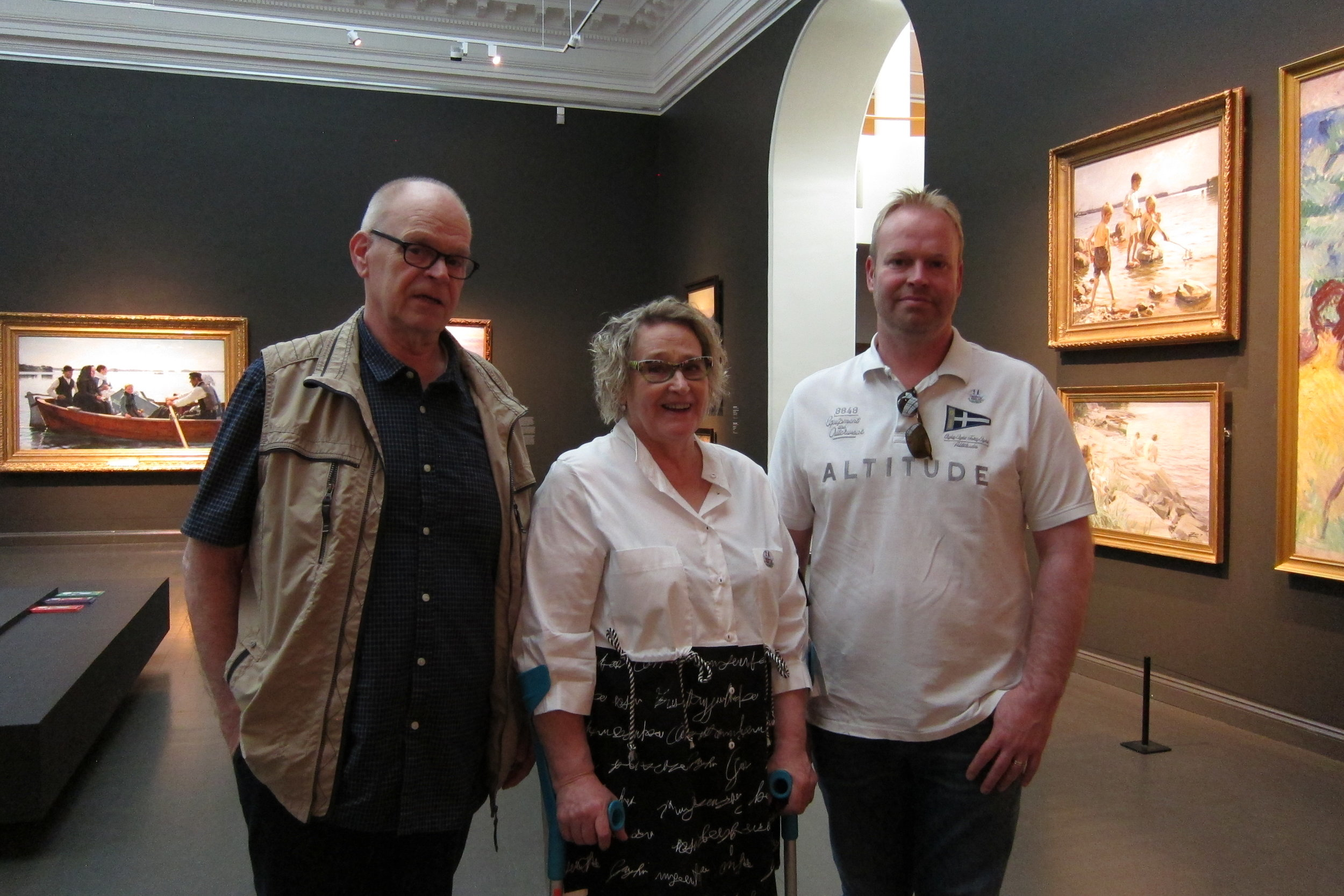 Paula's family  at the Ateneum Museum, Helsinki, 5/21/19
