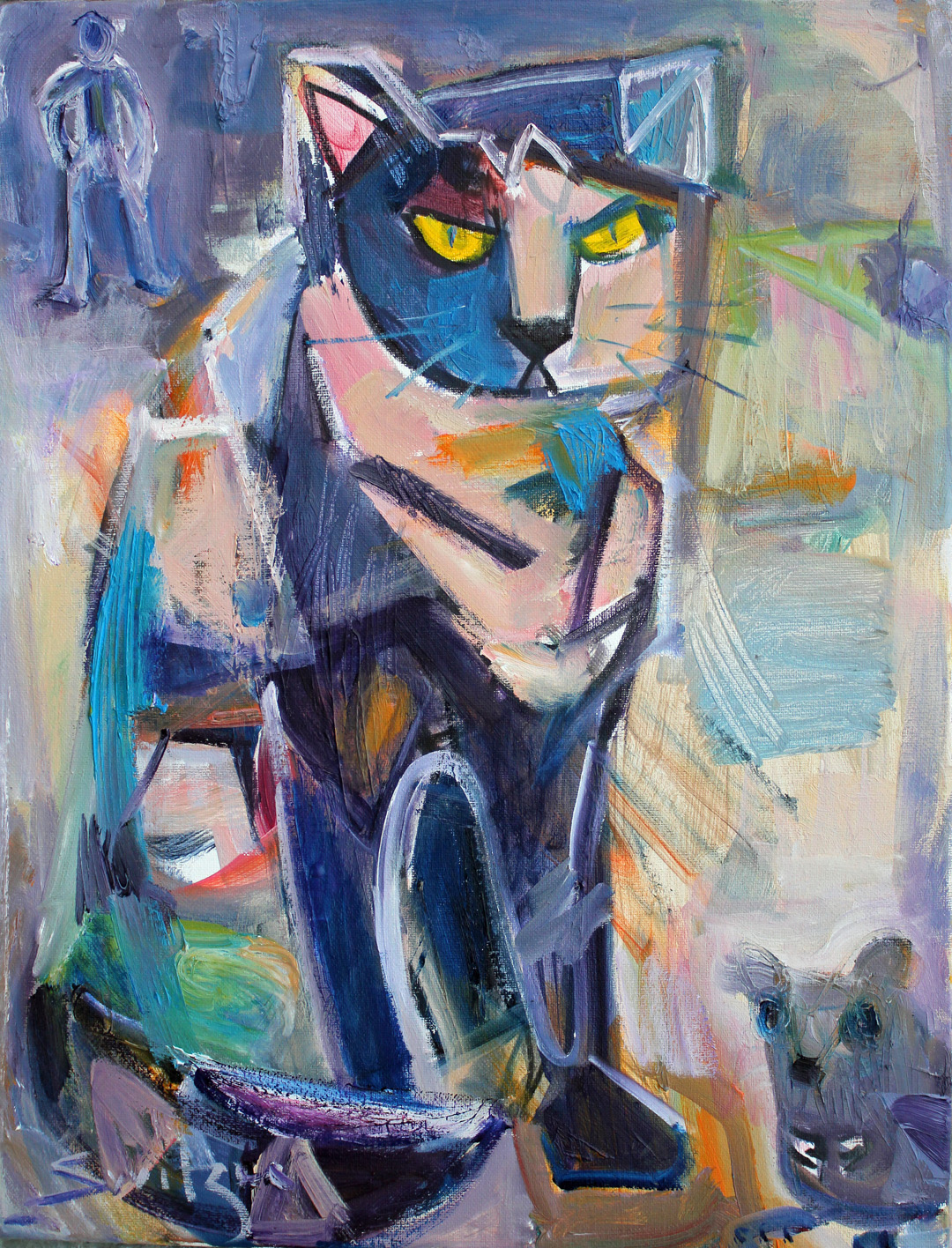 """""""Mouser"""", 18x14 inches, oil on canvas, SOLD"""