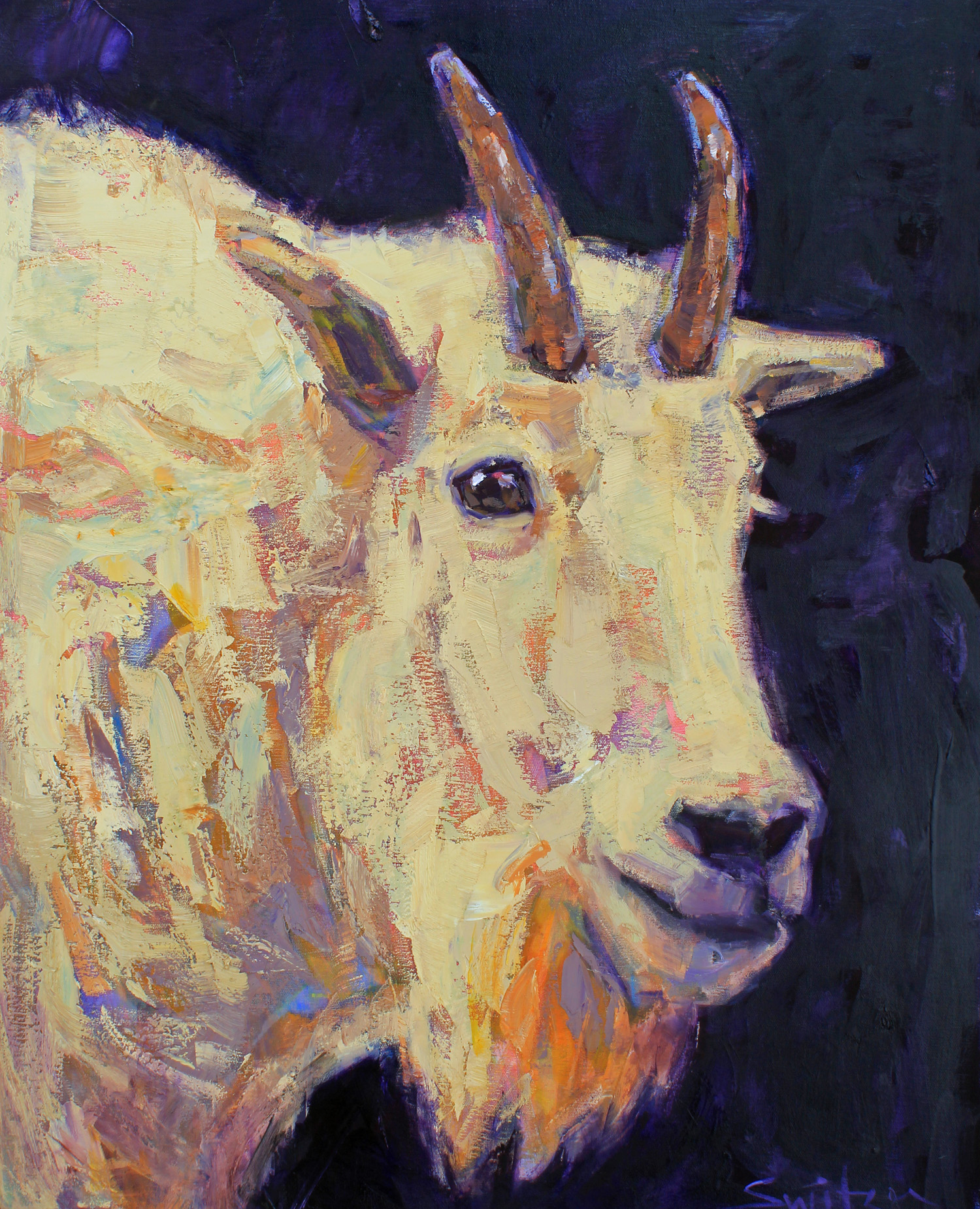 """""""Mountain King"""", 30x24 inches, oil on canvas  $3200"""