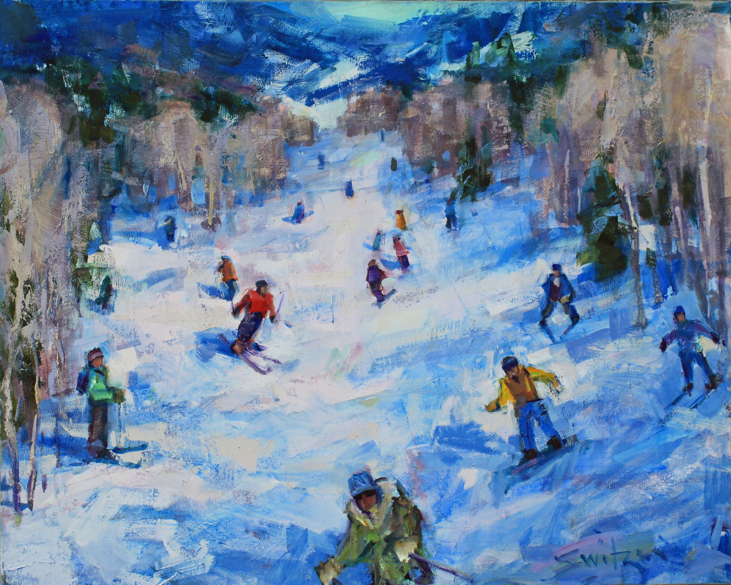 """Aspen Way"", 24x30 inches, oil on canvas"