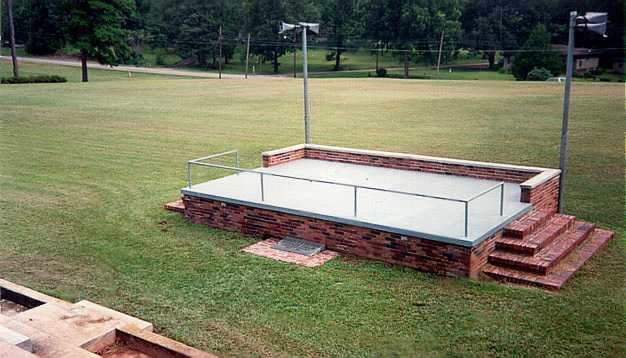 Reviewing stand and Parade Field Marker - May 1992